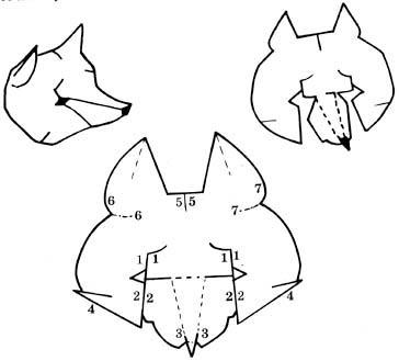 Шапки животных из бумаги